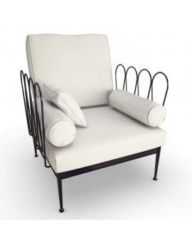 collection-3d-de-mobilier-d-exterieur-en-metal-modele-3d-fleurs-fauteuil-2