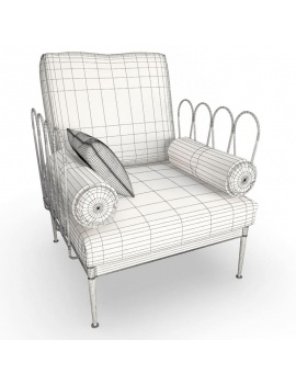 outdoor-metallic-furniture-collection-3d-models-fleurs-armchair-2-wireframe