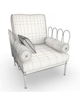 collection-3d-de-mobilier-d-exterieur-en-metal-modele-3d-fleurs-fauteuil-2-filaire