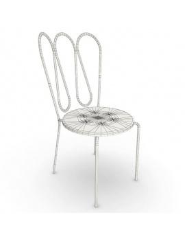 collection-3d-de-mobilier-d-exterieur-en-metal-modele-3d-fleurs-chaise-filaire