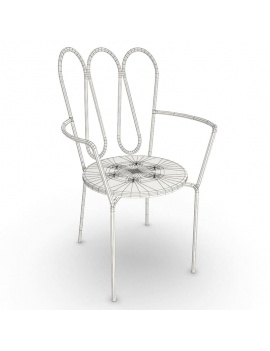 outdoor-metallic-furniture-collection-3d-models-fleurs-chair-2-wireframe