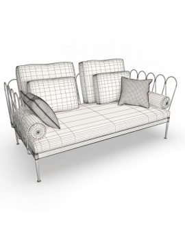 outdoor-metallic-furniture-collection-3d-models-fleurs-sofa-wireframe