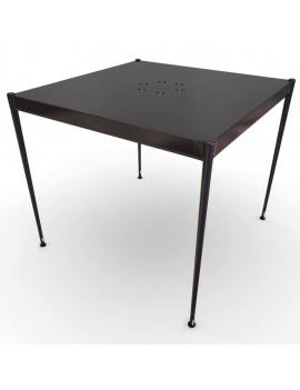 collection-3d-de-mobilier-d-exterieur-en-metal-modele-3d-fleurs-tables