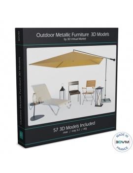collection-3d-de-mobilier-d-exterieur-en-metal-modeles-3d