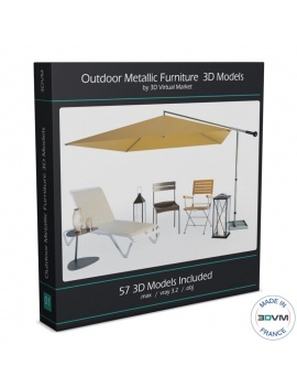 outdoor-metallic-furniture-collection-3d-models
