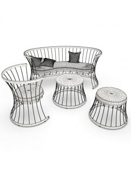 mobilier-metallique-d-exterieur-clessidra-3d-filaire