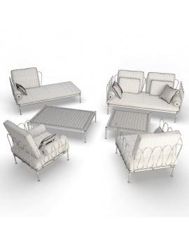 outdoor-furniture-fleurs-unopiu-3d-set-wireframe