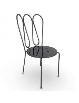 mobilier-exterieur-metallique-fleurs-3d-chaise