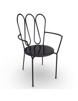 mobilier-exterieur-metallique-fleurs-3d-chaise-accoudoirs