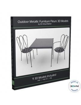 mobilier-exterieur-metallique-fleurs-3d