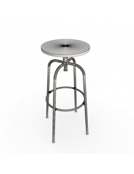 industrial-bar-stool-3d-wireframe