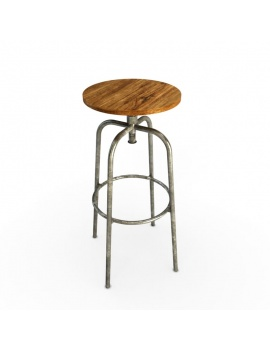 tabouret-de-bar-industriel-3d