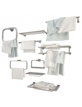 metallic-wall-towel-holders-3d