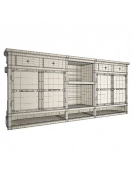 automotive-industrial-counter-3d-compartments-wireframe