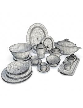 service-a-vaisselle-classique-3d-filaire