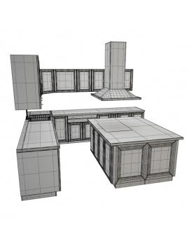 cuisine-equipee-et-ilot-central-3d-modules-mobilier-ilot-filaire