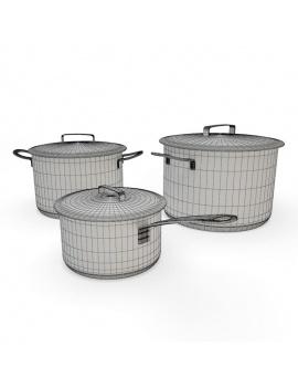 cuisine-equipee-et-ilot-central-3d-casserole-cocotte-filaire