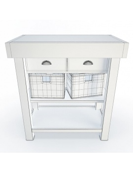 wooden-side-cabinet-and-baskets-3d-wireframe