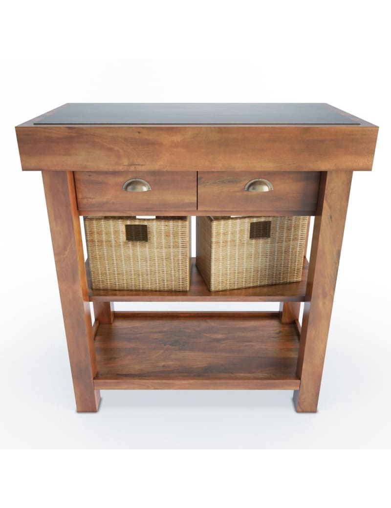 wooden-side-cabinet-and-baskets-3d