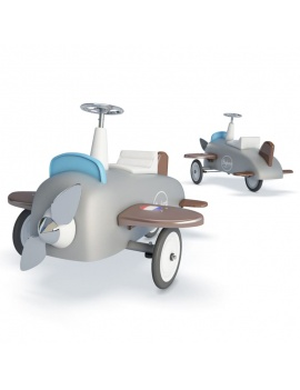 pedal-airplane-for-kids-3d
