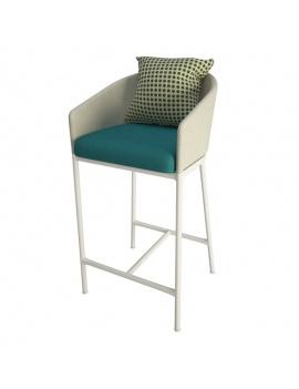 tabouret-de-bar-bitta-lounge-kettal-3d
