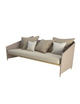 Canapé d'extérieur Bitta Lounge Kettal - Modèle 3D