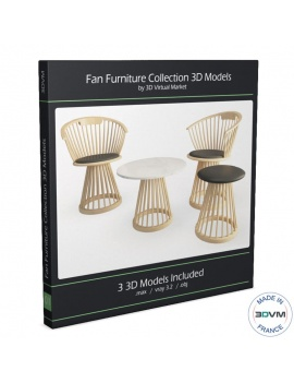 collection-mobilier-en-bois-fan-3d