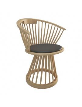 collection-mobilier-en-bois-fan-3d-chaise