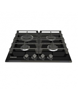 Gas Hob 4 burner 3d Model