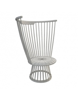 fan-chair-lounge-tom-dixon-3d-wireframe
