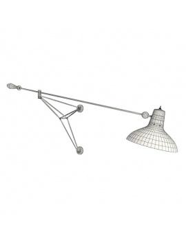 metallic-wall-lamp-diana-3d-wireframe