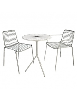 nolita-metal-outdoor-furniture-pedrali-3d-wireframe