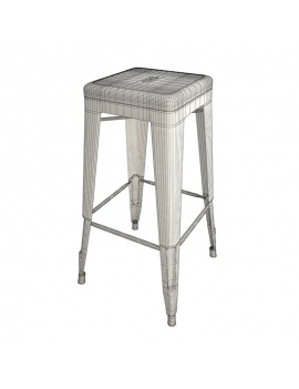 industrial-metallic-stool-3d-wireframe