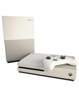 console-de-jeux-et-manette-xbox-3d