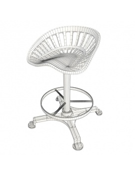 vintage-tractor-stool-3d-wireframe