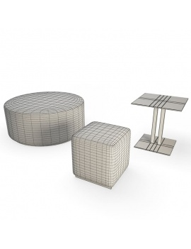 contemporary-bay-exterior-furniture-3d-table-poufs-wireframe