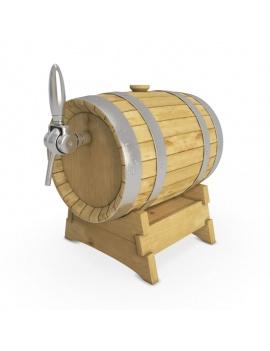 wooden-beer-barrel-3d