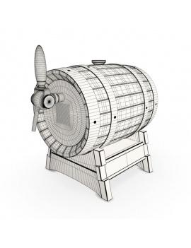 wooden-beer-barrel-3d-wireframe