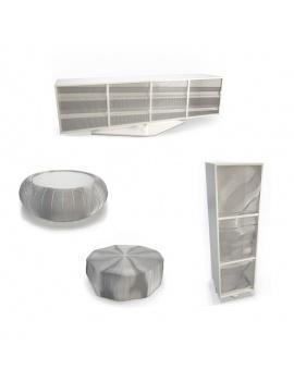 mobilier-metallique-roche-bobois-3d