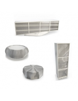 modern-metallic-furniture-roche-bobois-3d