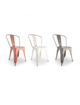 chaises-en-metal-use-modele-3d