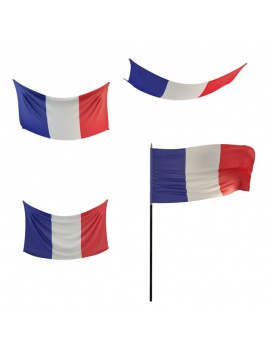 drapeaux-modele-3d