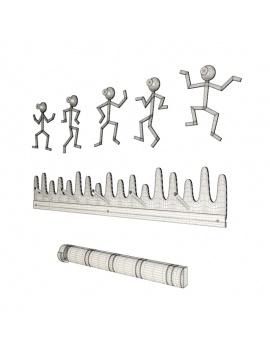 coat-hanger-design-pack-3d-figure-wireframe