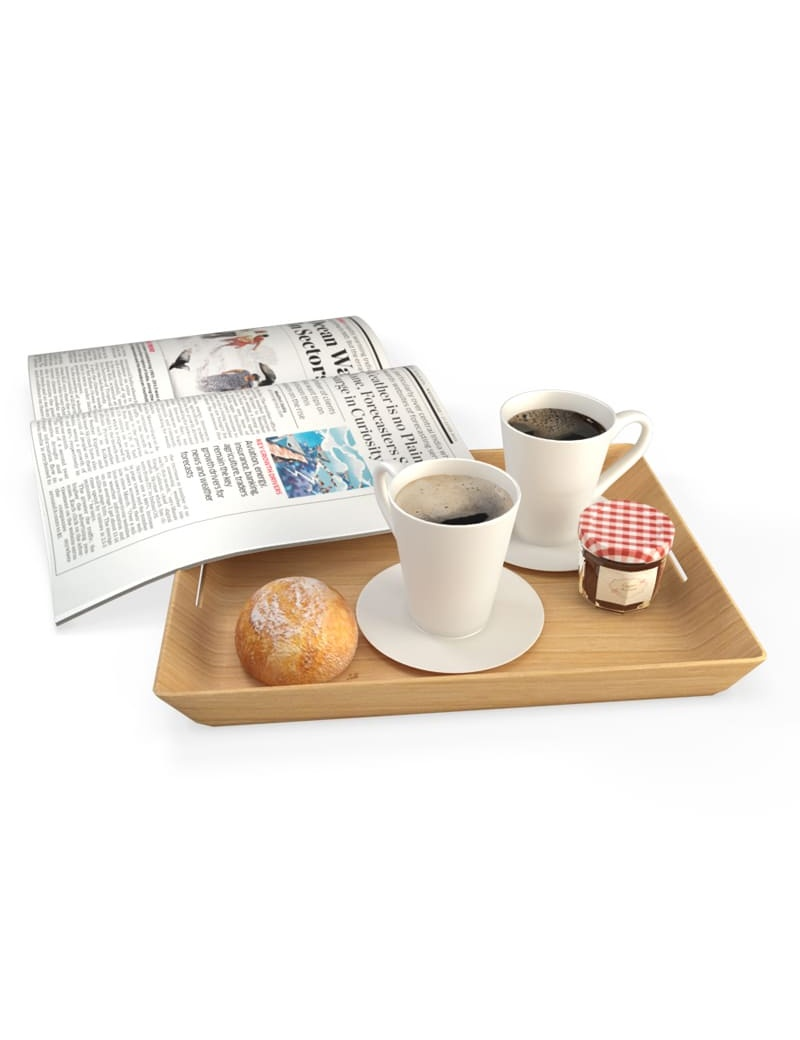 Breakfast Coffee Newspaper 3d model for download in max 2014 and obj