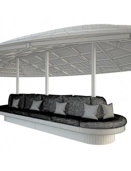 gazebo-with-bench-seat-3d-wireframe