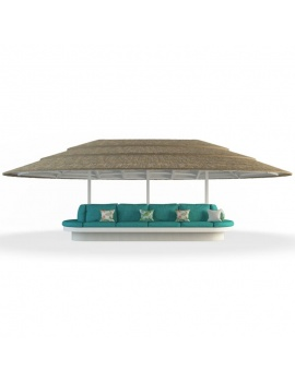 gazebo-with-bench-seat-3d-front