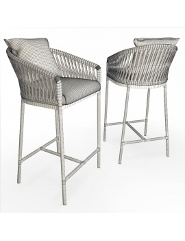 outdoor-braided-bar-stool-3d-wireframe