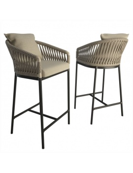 Outdoor Braided bar stool -...