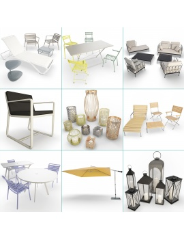 outdoor-metallic-furniture-collection-3d-models-cover