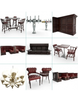 english-pub-furniture-collection-3d-models-cover